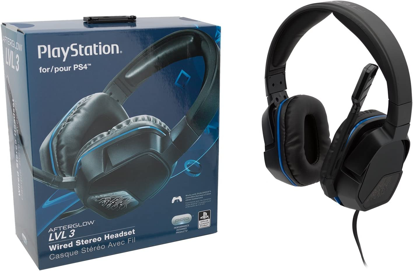 Amazon.com: PDP Sony Afterglow LVL 3 Stereo Gaming Headset 051-032, Black:  playstation 4: Video Games