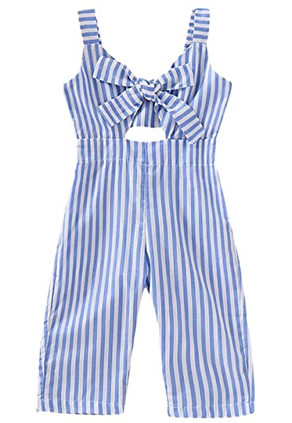 610969b74 Amazon.com: Baby Kids Girls Strap Floral Harem Jumpsuit Playsuit Ruffle  Sleeveless Romper: Clothing