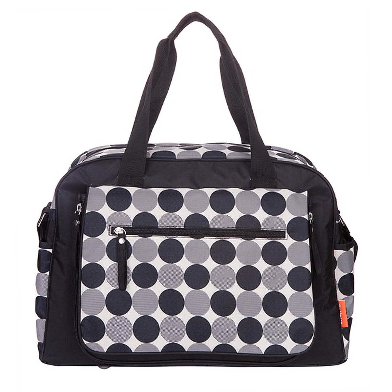 Allis Baby Changing Bag Luxury Nappy Bags, Black Circle CB11K