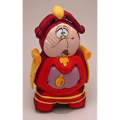 "8"" Beauty and the Beast Cogsworth Plush Bean Bag: Toys & Games"