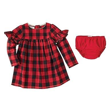 4b153dba85 Amazon.com: Mud Pie Buffalo Check Dress (0-3 Months Toddler): Clothing