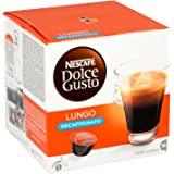 Nescafé Dolce Gusto Lungo Decaffeinated, 16 Capsules - Pack of 3 (48 Capsules)