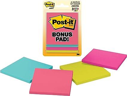 Post-It Notes, 3 de X 3 de, Jaipur Collection, Lined, 3 Pads/Pack ...
