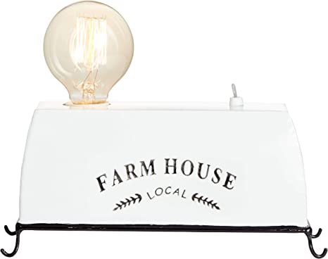 Lampada Brilliant Lampada Da Tavolo Farm Life Bianca 1x A60 E27 30w Adatto Per Lampade Normali Non Incluse Scala Da A A E Con Interruttore A Levetta Amazon It Illuminazione