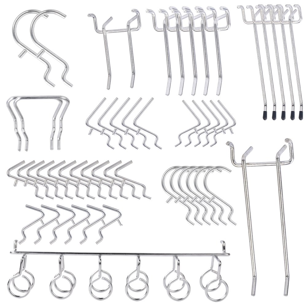 Pegboard Hooks Assortment – 50 Piece Peg board Hooks Set