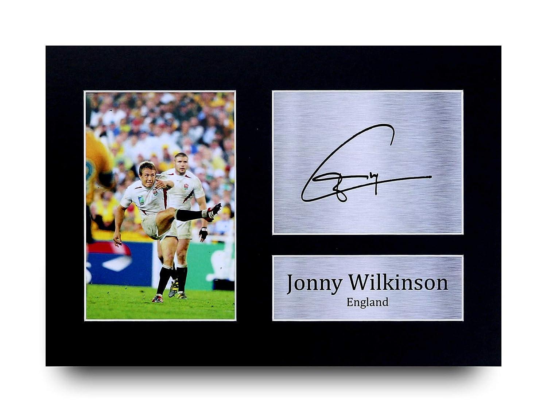 HWC Trading Jonny Wilkinson Autographe imprim/é A4 Motif Drapeau Anglais Rugby Union