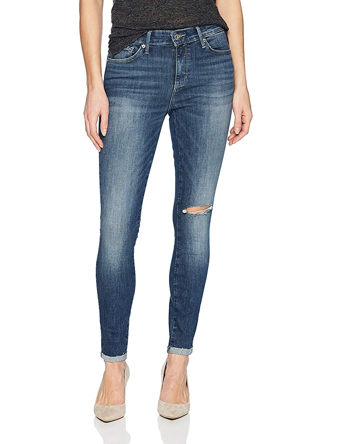 Lucky Brand Womens Mid Rise Ava Legging Jean in Vaguero