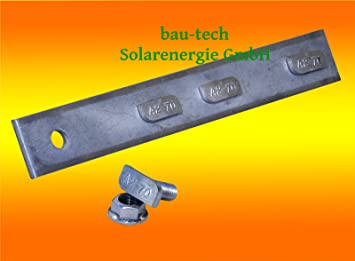 1 Stück Profil Verbinder Edelstahl A2 für Alu Profil Photovoltaik Solar Montage
