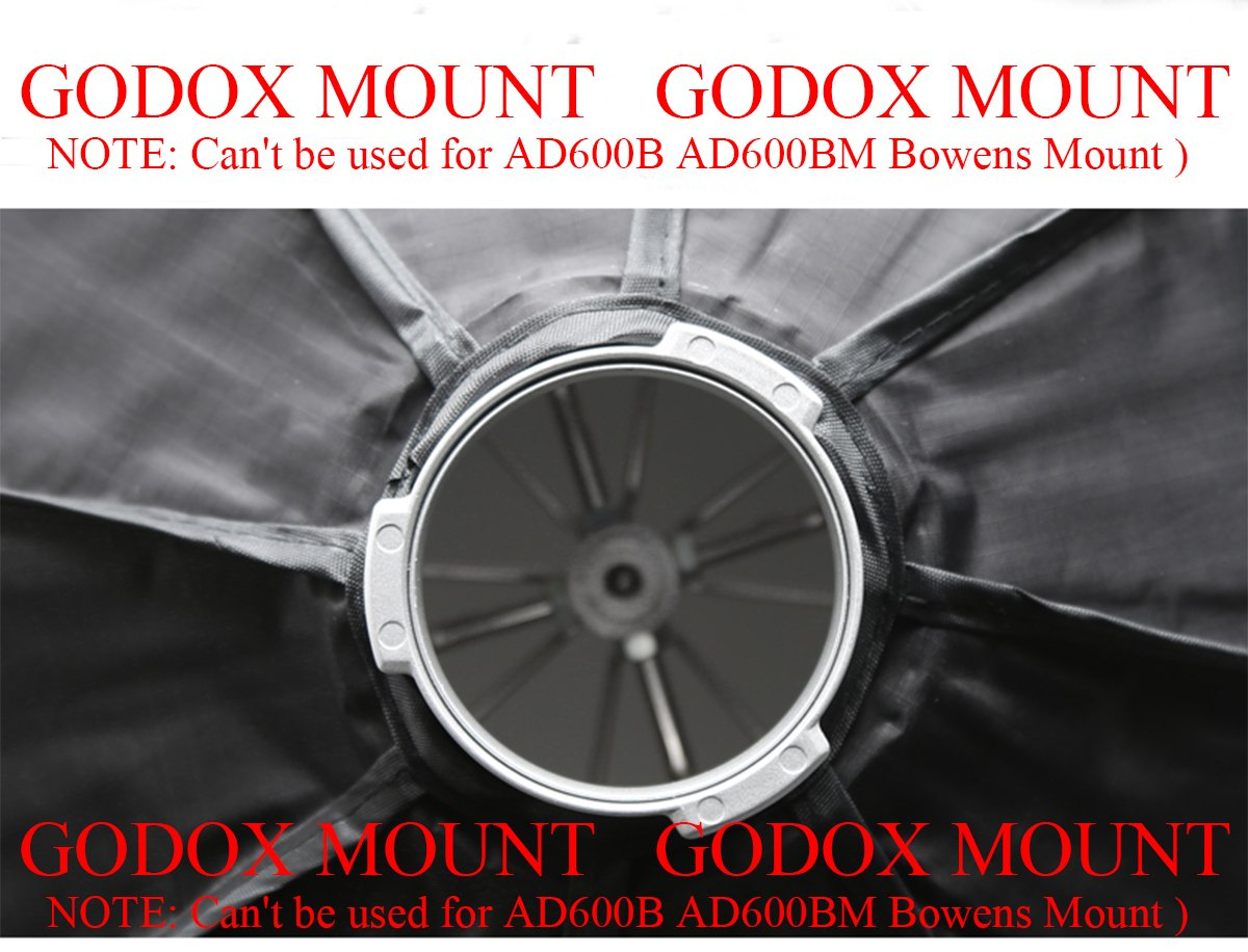 Amazon.com : Godox AD-H6 60cm Octagon Folding Umbrella Softbox For AD600 AD600M Flash (Godox Mount)  : Camera & Photo