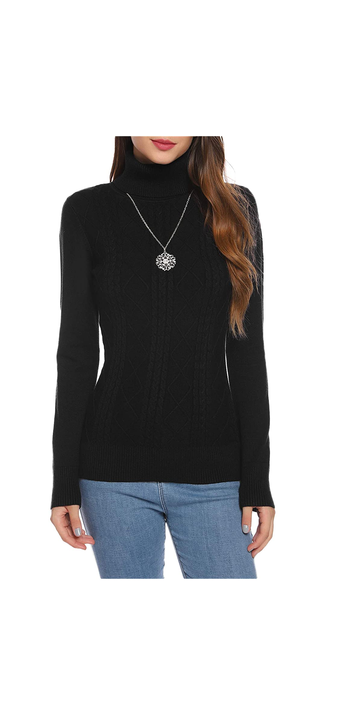 Turtleneck Sweaters For Women Casual Long Sleeve Soft