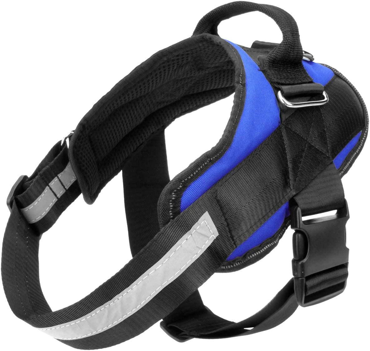 Bolux Service Dog Harness Reflective Breathable and Easy Adjust Pet Halters with Nylon Handle for Small Medium Large Dogs Tugging or Choking Easy On and Off Pet Vest Harness No More Pulling