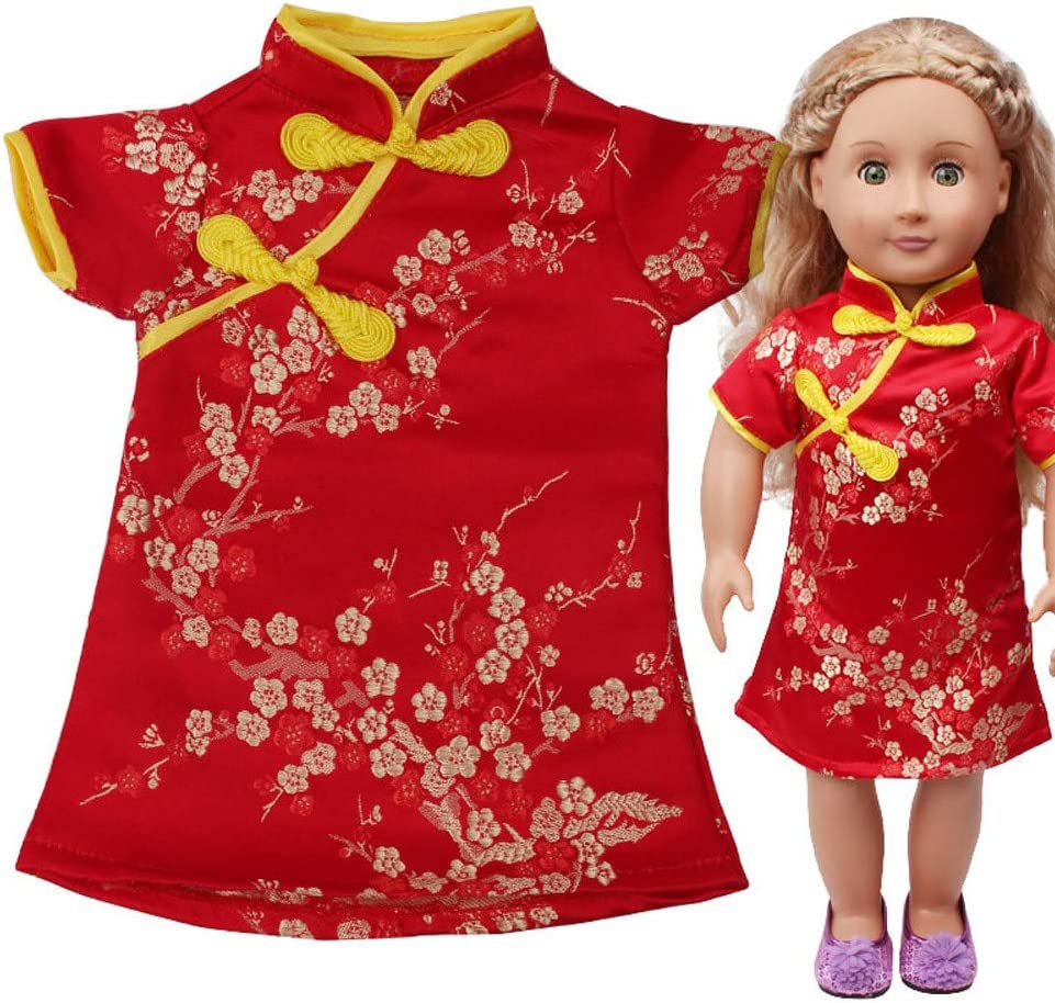 doll dress for 18 inch american girl handmade snowmen christmas red green 160