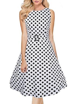 4e5556bb4 Women Vintage 1950s Spring Garden Party Dress for Women Sleeveless ...