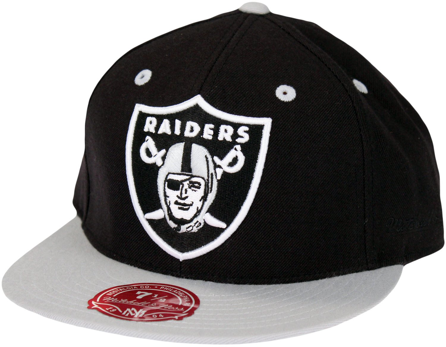 Oakland Raiders NFL Mitchell & Ness, 2 Tono XL Logo Fitted Gorra ...
