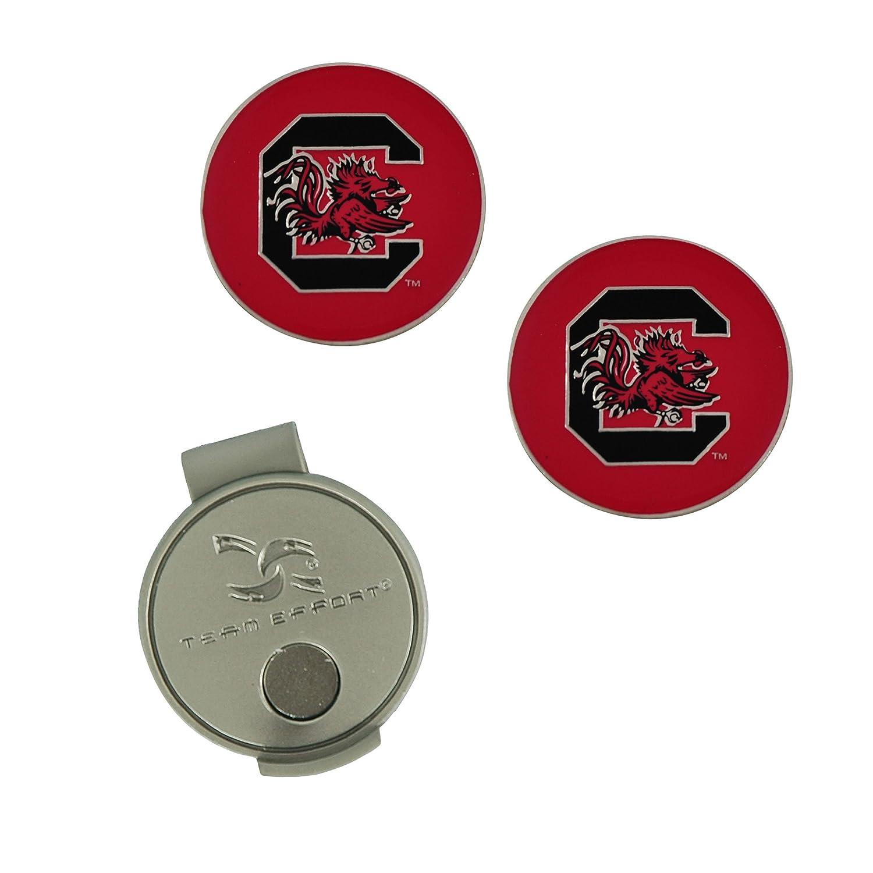 (South Carolina Fighting Gamecocks) - NCAA South Carolina Hat Clip and 2 Golf Ball Markers   B000QW1F3I