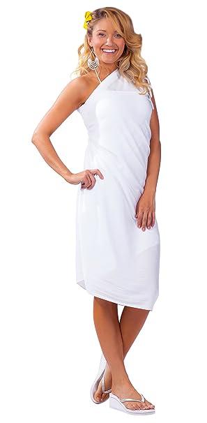 3336cce20eea 1 World Sarongs Donna Pareo Copricostume Tinta Unita Bianco: Amazon.it:  Abbigliamento