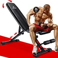 MaxKare 5-in-1 Weight Bench Adjustable Workout | 882 lbs Capacity Foldable Incline Decline Flat Exercise | 7+3+2…
