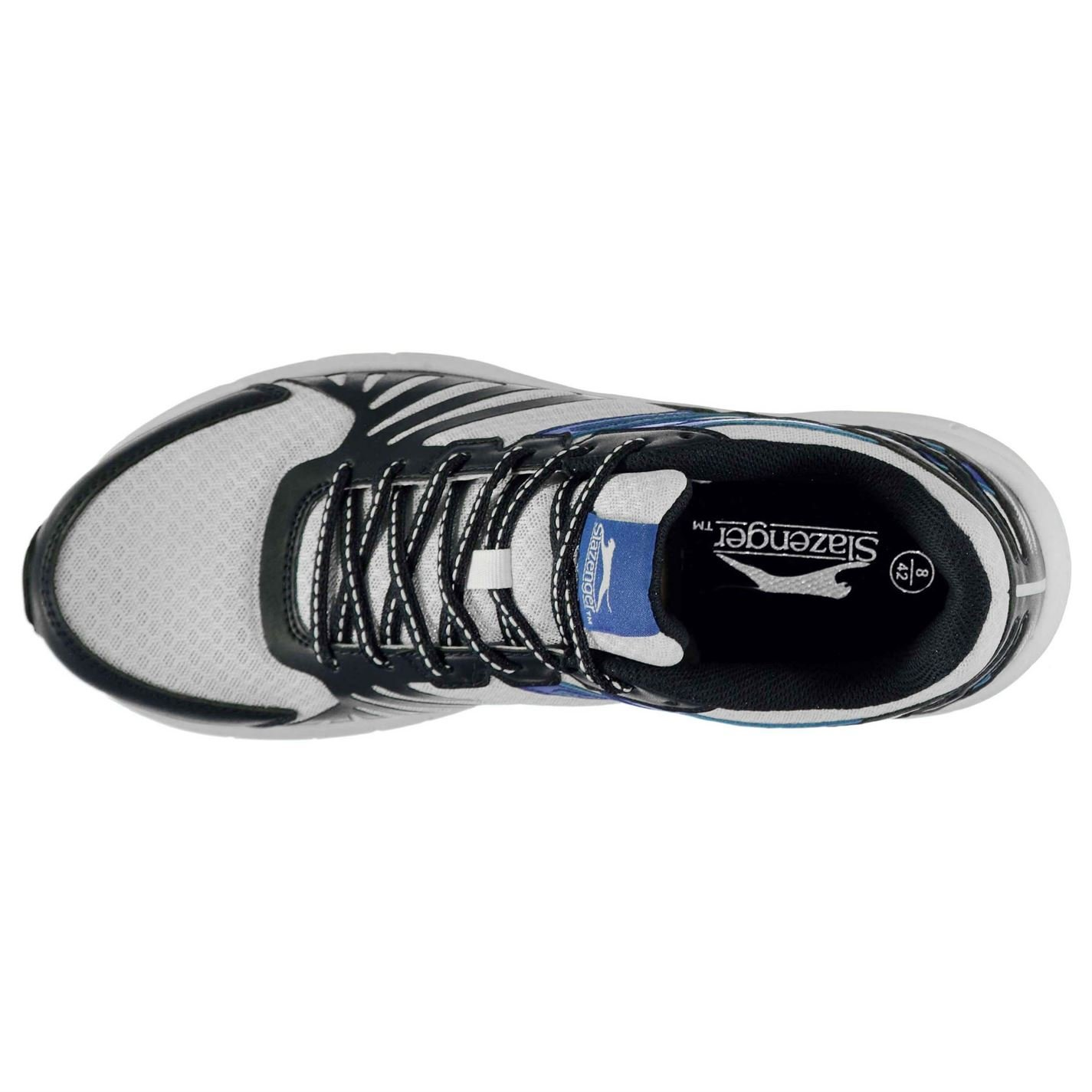 Slazenger Kids Dash Jogger Trainers Shoes Lace Up Mesh Padded Ankle Collar