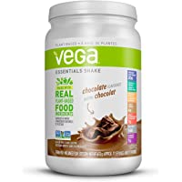 Vega Essentials Nutritional Shake Chocolate (17 Servings, 21.6oz) - Plant Based Vegan protein, Non Dairy, Keto-Friendly, Gluten Free, Non GMO