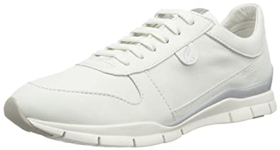 Womens D Sukie a Low-Top Sneakers, White (IVORYC1008) Geox