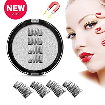 69fb9f9218d Dual Magnetic Eyelashes Lightweight & Easy to Apply Best 3D Reusable Magnet  Lashes Extensions 2 Magnets