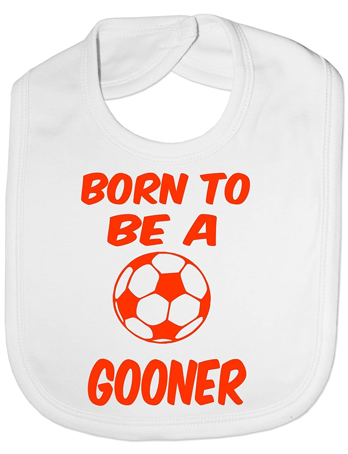 Print4U Unisex Babys Born To Be A Gooner Arsenal Baby Bib