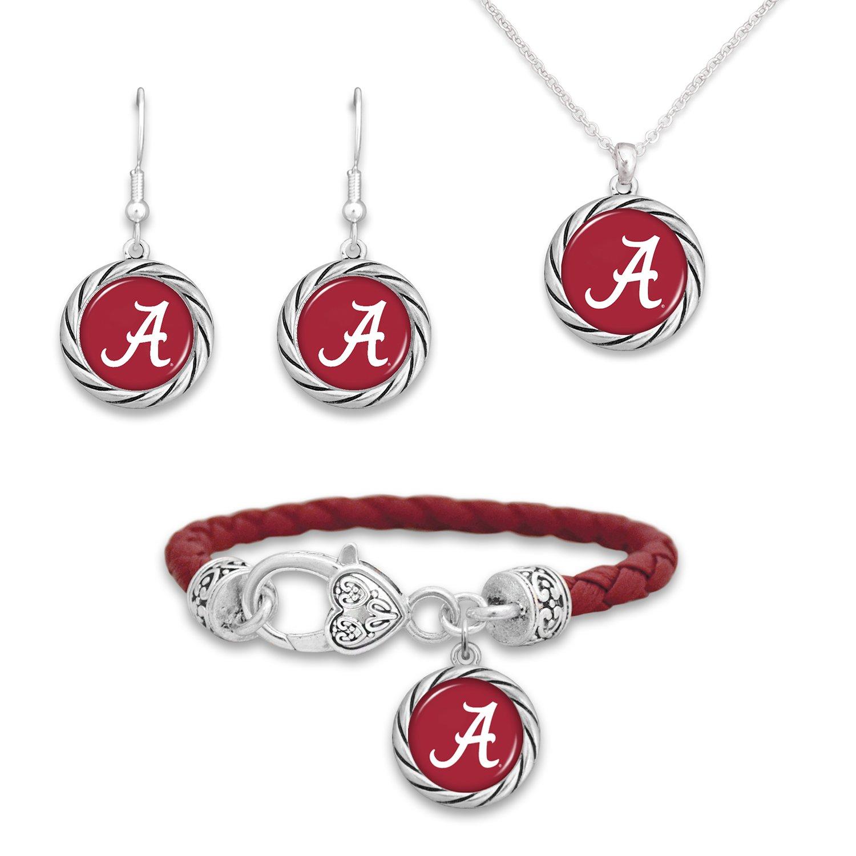 FTH Alabama Logo Jewelry Combo Bracelet Necklace Earrings