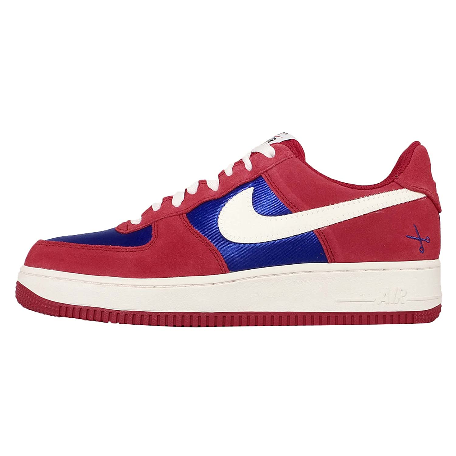Nike Air Force 1 Red Suede Trainers With Gum Sole