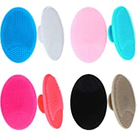Tatuo 8 Pieces Exfoliator Face Cleansing Pads Silicone Face Scrubber Blackhead Scrubber for Daily Facial Cleaning, 8 Colors