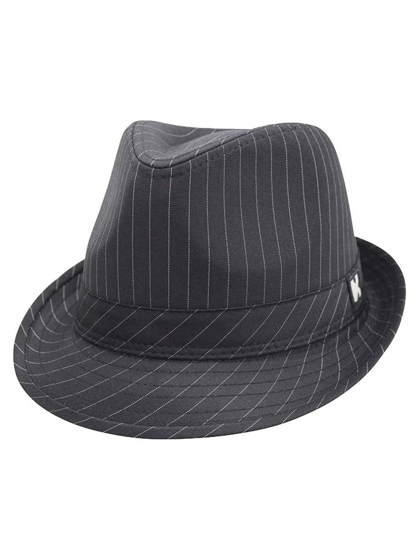 Black Classic Pinstripe Trilby Fedora Hat