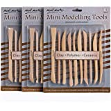 Mont Marte Polymer Clay Tools Pottery Tools Clay Sculpting Tools for Sculpting 10 pces, 3 Pack