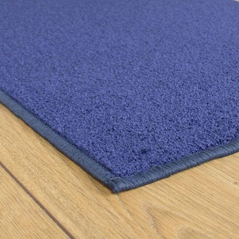 Any Size Blue Festival Hallway Carpet Runner Brown Dark Grey or Light Grey