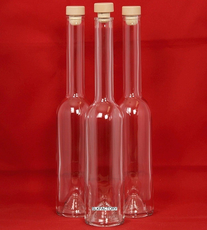 Botella de Vidrio Vacía 100/200/350/500 ml 6 Unidades Opera con Corcho para Licor Aguardiente Aceite Vinagre para Rellenar 0,1/0,2/0,35/0,5 Litros de SLK ...