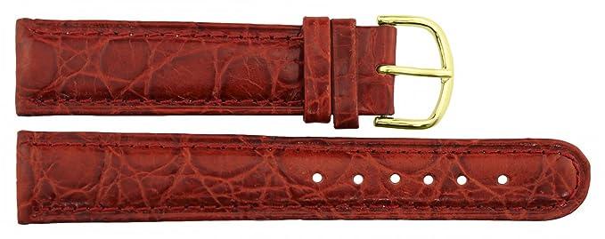 1 opinioni per Cinturino Orologio in Rosso Pelle- 20mm- Imitazione coccodrillo- Fibbia in Oro
