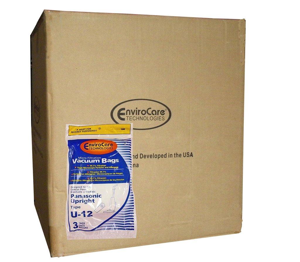 1/2 Case (25 Pkgs) Panasonic U6 U12 Upright Vacuum Allergy Bags Quiet Force Plus Platinum Optiflo