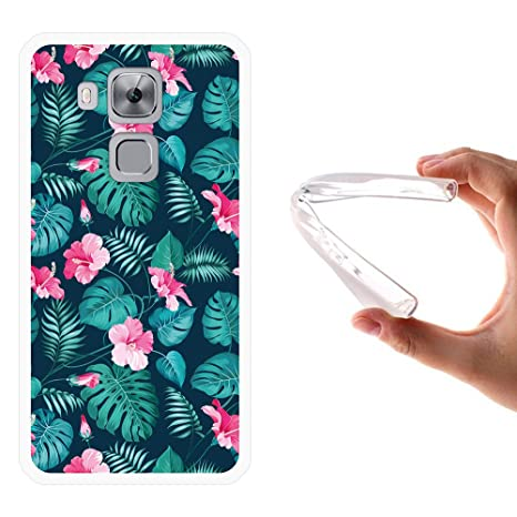 Funda Huawei Nova Plus, WoowCase [ Huawei Nova Plus ] Funda Silicona Gel Flexible Flores Tropicales 2, Carcasa Case TPU Silicona