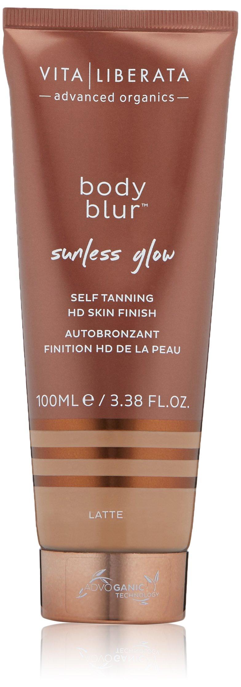 Vita Liberata Body Blur Sunless Glow Self Tanning HD Skin Finish, Latte, 3.38 Fl Oz