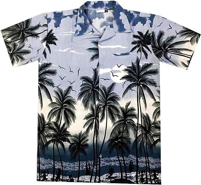Virgin Crafts Camisa hawaiana para hombres, niños, mujeres, manga corta, playa, verano Aloha: Amazon.es: Ropa y accesorios