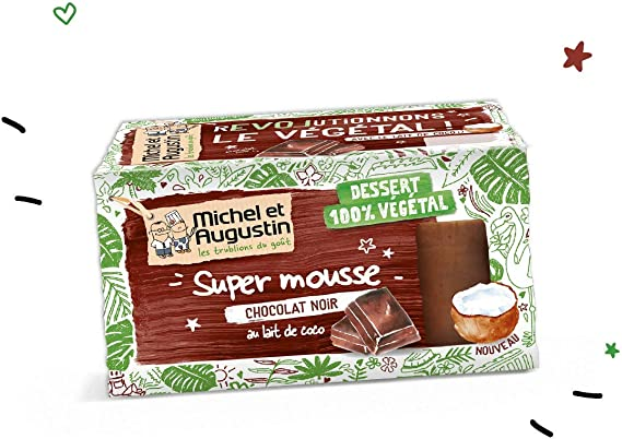 Michel et Augustin Mousse Végétale Au Chocolat Noir Intense