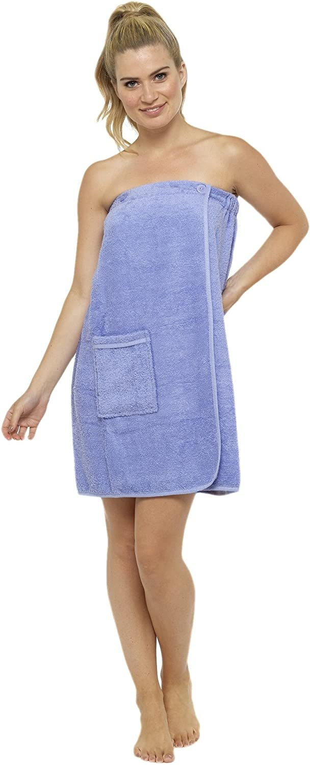 CityComfort Towel Wrap for Women 100/% Cotton Highly Absorbent Terry Soft Sarong Towel Shower Spa Beach Gym Towelling Robe Cover-Up Dress