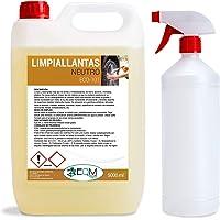 Ecosoluciones Químicas ECO-101 | 5 litros | Limpia Llantas Profesional Neutro | Elimina Suciedad sin Esfuerzo | Incluye…