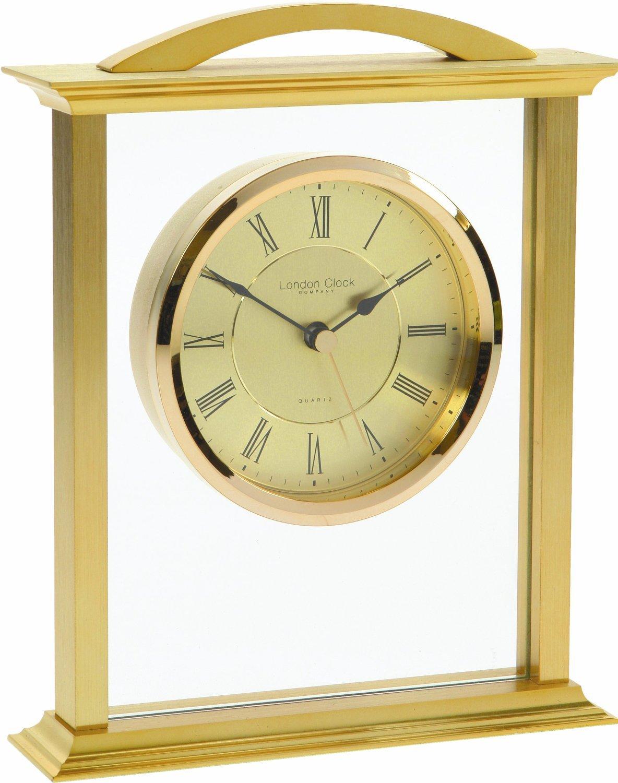GOLD FINISH QUARTZ MANTEL CLOCK 03023 London Clock