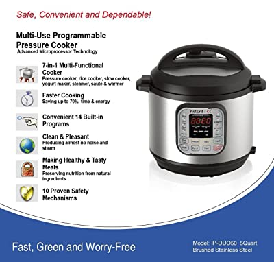 Main Features Of Instant Pot IP-DUO50 Multi-Functional Pressure Cooker