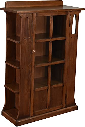 Crafters and Weavers Arts and Crafts Mission Oak Bookcase