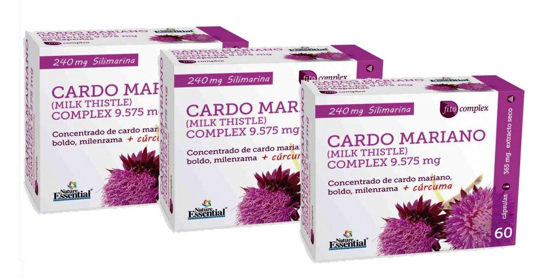 CARDO MARIANO COMPLEX 9575 MG 60 CAPS (3): Amazon.es: Salud y cuidado personal