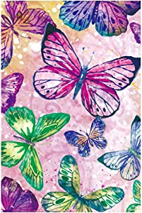 Texupday Dazzling Diamond Coloured Butterfly Spring Garden Flag Colorful Outdoor Yard Flag 28