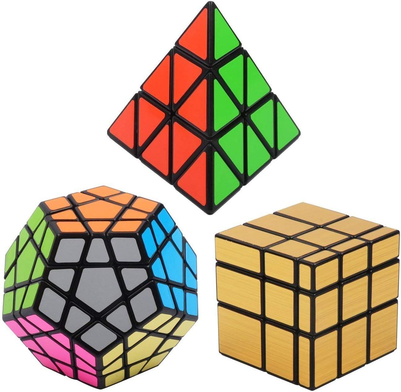 Vdealen Negro Magic Dodecahedron Megaminx + 3 x 3 x 3 Pyramid + 3 ...