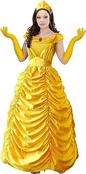Disfraz de Bella Amarilla para Mujer L: Amazon.es: Juguetes y juegos