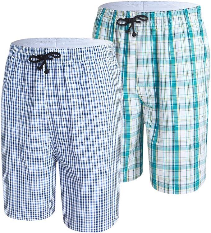 JINSHI Hombre Pantalones Cortos de Pijama Algodón Salón Shorts a ...