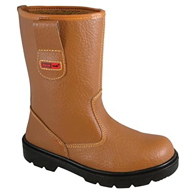 S1-P SRC  Assorted Sizes Blackrock SF01 Fur Lined Safety Rigger Boot Tan